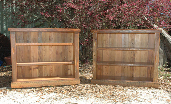 Reclaimed Heart Pine Bookcases