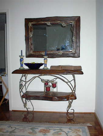 Sinker Cypress Table with Mirror