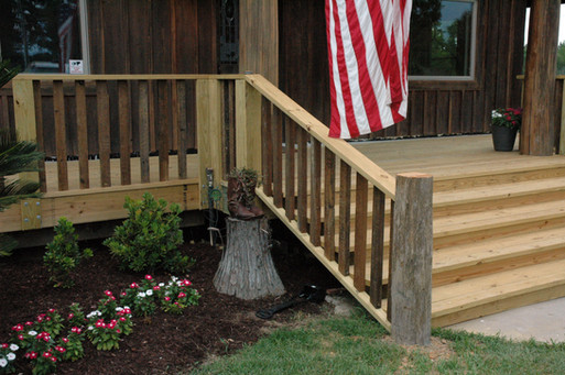 Porch Post and Railings
