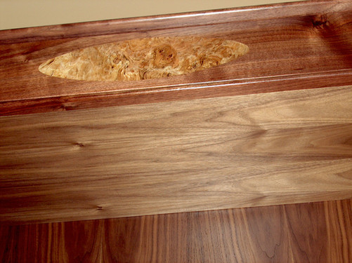 Maple Burl Inlay Detail