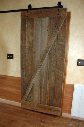 Reclaimed Pine Barn Door