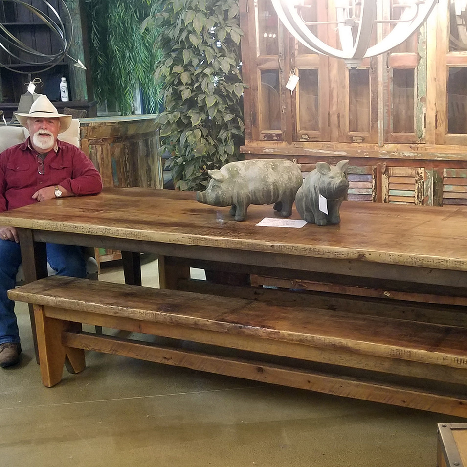 10' Reclaimed Threshing Table