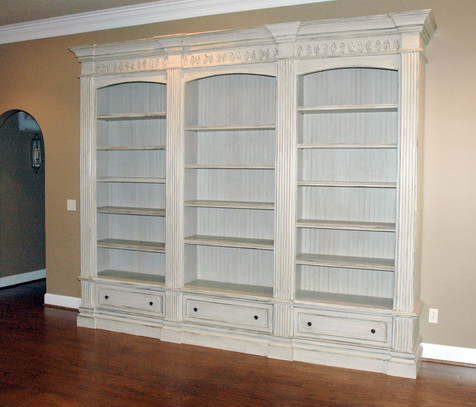 White Triple Bookcase