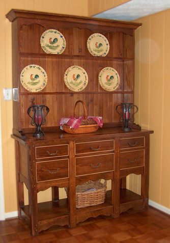 Reclaimed Heartpine Hutch