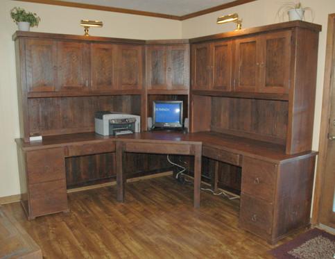 Reclaimed Heartpine Corner Desk