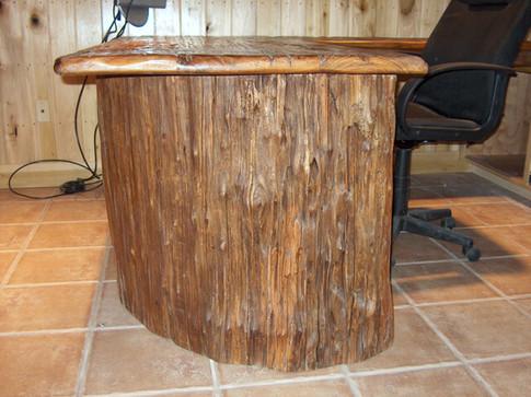 Reclaimed Cypress Desk Base