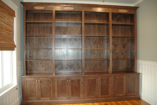 Figured Walnut Bookcase