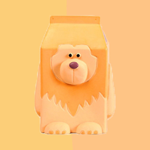 QMONSTER MILKBOX Orange Lion Dog toy