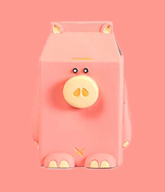 QMONSTER MILKBOX Pink Pig