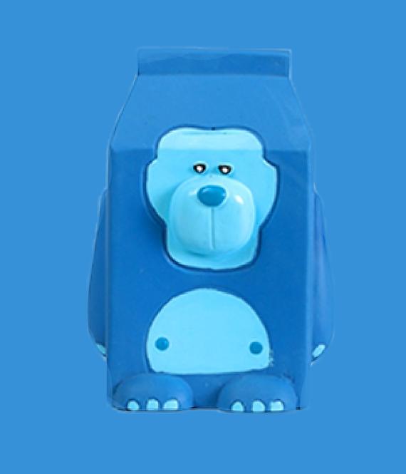 QMONSTER MILKBOX Blue Gorilla Dog toy