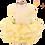 Thumbnail: MKO Dog and Cat Babydoll Princess Dress Yellow