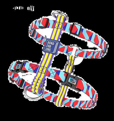 ISPET Bond for Love printed I shape harness | luxury  harness