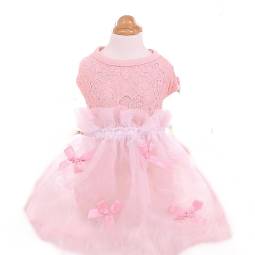 MKO Lace elegant dog / cat dress pink yello assorted size