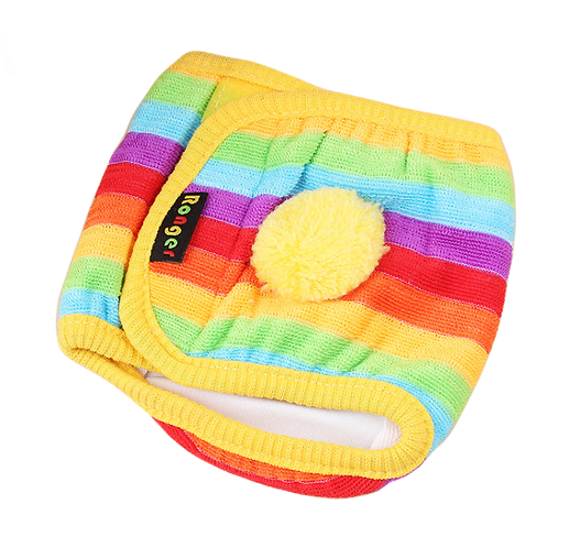 RONGER MALE DOG WRAPPER / DIAPERS RAINBOW