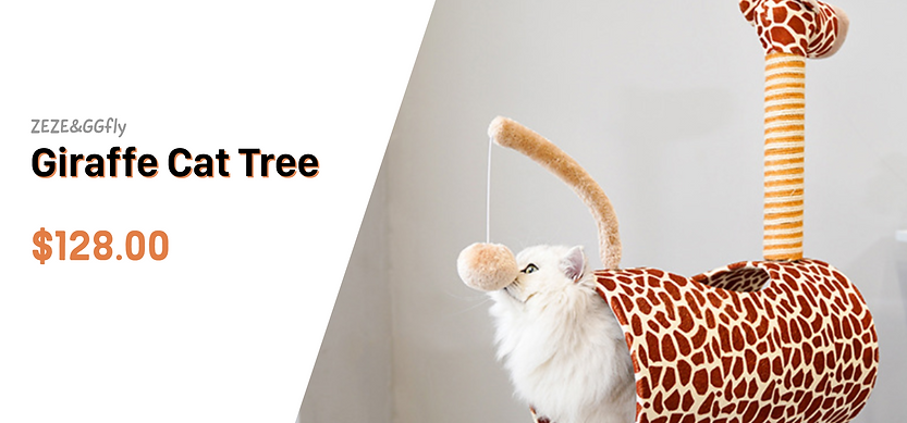 Giraffe cat tree