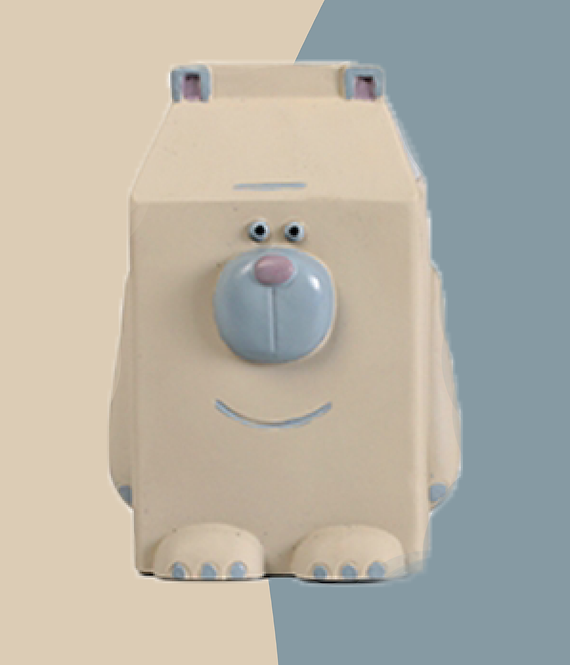 QMONSTER MILKBOX Gray Bear Big Dog Toys