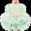 Thumbnail: MKO Dog and Cat Babydoll Princess Dress Green