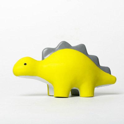 QMONSTER DINASOR Stegosaurus Natural Rubber Dog Toy For Big Dog