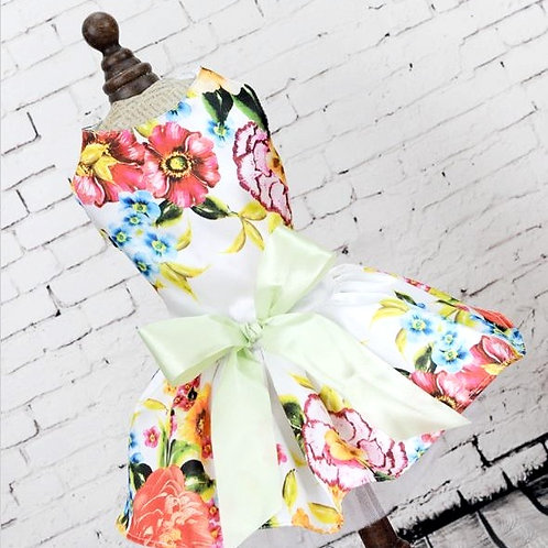 BUFFY Eyecatching Dog Dress Wedding dress big bow flower