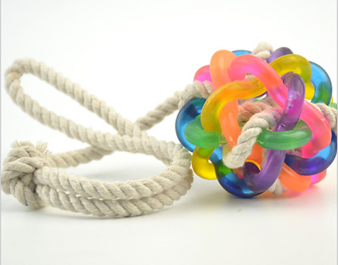 JTT DOG ROPE TOY WITH BELL