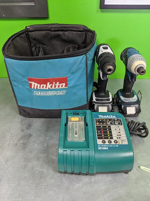 Makita Xfd01 Btd141 18v Cordless Drill Impact 2 Batteries And Charger