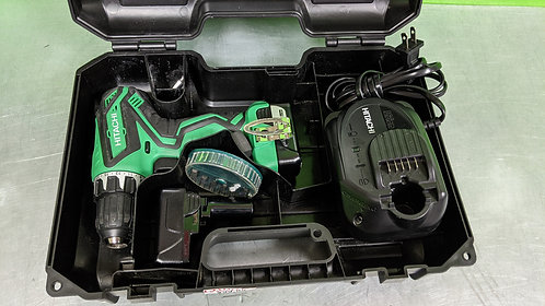 Hitachi Ds10dfl2 12v Li-lon Drill 3 Battery Charger in case