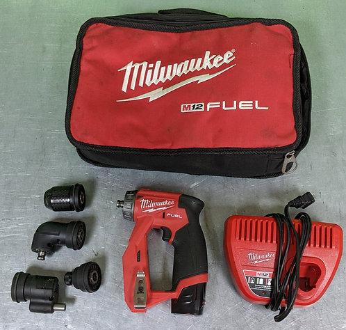 "Milwaukee 3/8"" DrillDriver - 4Heads, Battery, CHGR, Bag - 2505-20 - Washington"