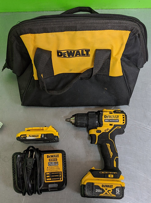 20v Cordless Drill - 2 batteries, charger, bag - DCD708 - Washington