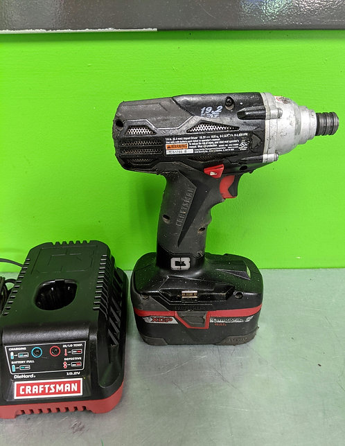 Craftsman Vsr Impact Drill 19.2v W With Battery And Charger