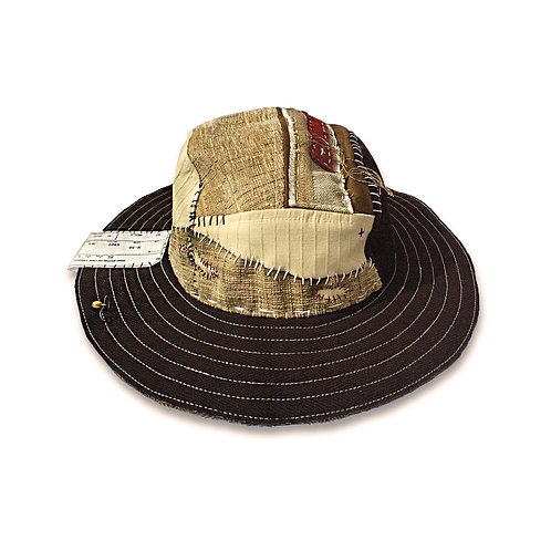 SJ0804 PATCHWORK FISHING HAT