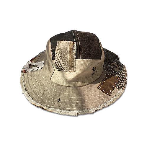 SJ0802 PATCHWORK FISHING HAT