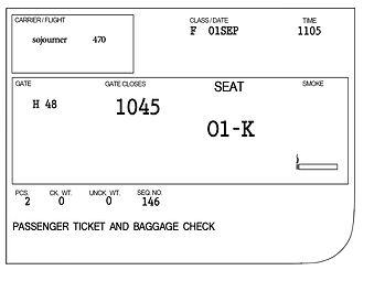 sojourner's flight ticket