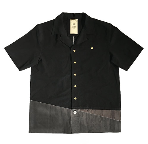 SJ0206 RECONSTRUCTED HAWAII SHIRT (BLK)