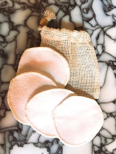 Cotton rounds 4x with wash bag
