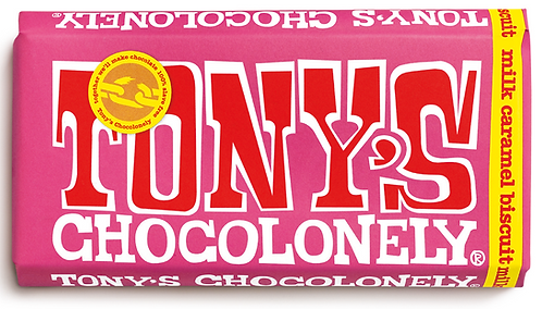 Tony's Chocolonely Milk Caramel Biscuit 180g