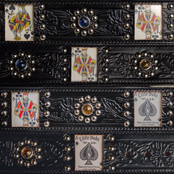 Reproduction vintage card belt with auth