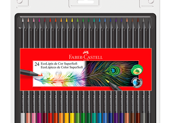 Lapices Supersoft x24 Faber-Castell