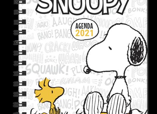 Agenda Snoopy 2021. Blanca