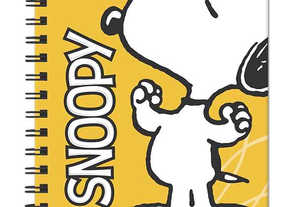 Agenda Snoopy 2021. Amarilla.