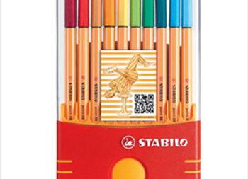 Fibras Stabilo Point 88 x20