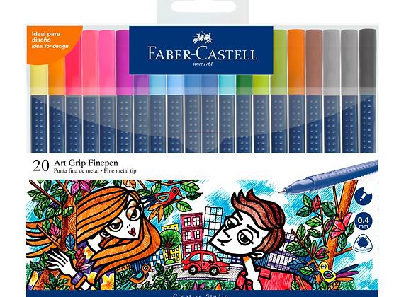 Fibras Trazo Fino x20 Faber-Castell