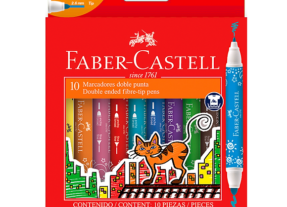 Marcadores Doble Punta x10 Faber-Castell