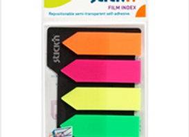 Post it Stick´N Film 8 Colores Flúo + regla