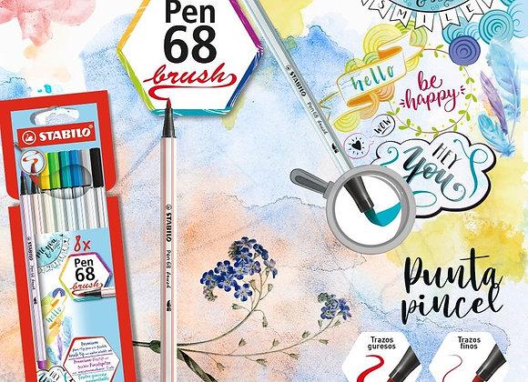 Stabilo pen 68 brush x8