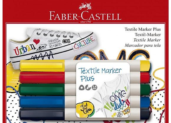 Blister Marcador para Tela x5 Faber-Castell