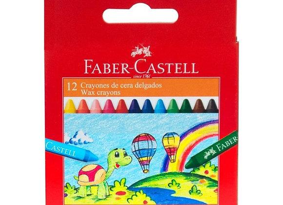 Crayolas x12 Faber-Castell