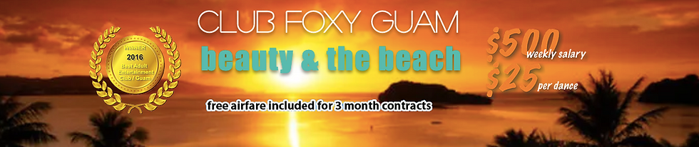 club foxy guam tropical beach dancer job