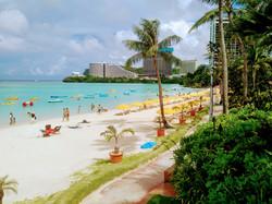 sunny beach of Tumon Guam USA