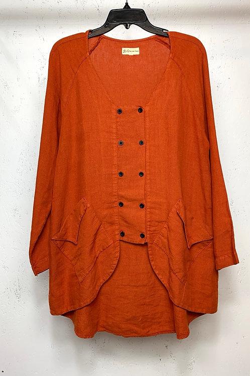 The linen press orange long sleeve
