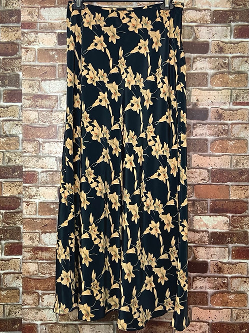 Kenar etc. black with gold flowers